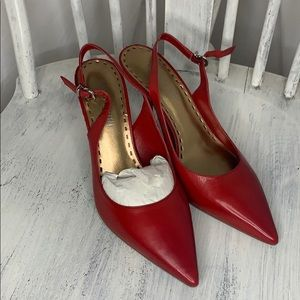 Gianni Bini Red Sling Back Heels
